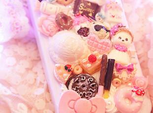 日本进口材质 纯手作♥超诱惑の奶油蛋糕点心Iphone4手机壳!JH,手机壳,