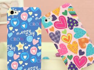 韩国正品Kgmy苹果iPhone4s手机壳爱心浮雕保护套磨砂iPhone4外壳,手机壳,