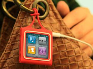 台湾 Bone 正品 iPod nano6 Wrap 缤纷卷线系列 硅胶保护套,手机壳,