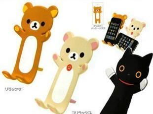 Idock 日本 轻松小熊 靴下猫iPhone 4/3gs手机支架 卡通底座,手机壳,