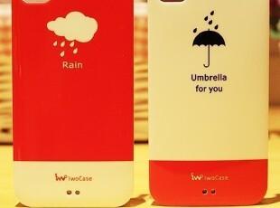 新品 苹果4 iphone4/4S 情侣手机壳 雨天 雨伞 天气手机壳 手机套,手机壳,