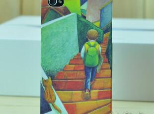 iphone4手机壳 几米卡通磨砂 超薄情侣潮男 4s套 苹果4外壳 夜光,手机壳,