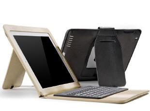ROCK正品苹果The New iPad3蓝牙键盘皮套iPad2休眠保护套 配件,手机壳,