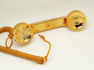 iPhone 4 4S iPad 2摩仕电话听筒moshi复古听筒 镀金防辐射耳机,手机壳,
