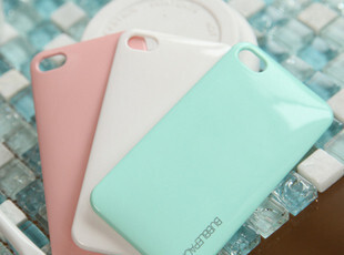 韩国超薄糖果色 iphone4S手机壳 果冻色 苹果4手机外壳 背贴 背壳,手机壳,
