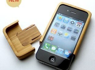 【GeekCook】iPhone4 竹制保护套/ 黑胡桃木 手机保护壳,手机壳,