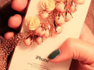 韩国进口iphone4 4s三星htc流苏可爱手机耳机孔塞/苹果防尘塞吊坠,手机壳,