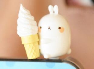 韩国进口 blu smart可爱卡通猪兔子 iphone 3.5mm耳机防尘塞,手机壳,