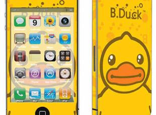 苹果iPhone4S 复古可爱卡通彩色保护全身贴侧边框膜◆BDUCK,手机壳,