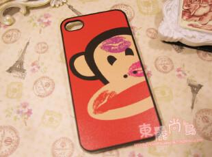 可爱 大嘴猴(亲一口) iphone 4 /4S 苹果 保护壳套,手机壳,