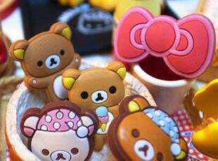 独畅团轻松熊 苹果 iphone4 4S 3GS the new ipad3 防尘塞,手机壳,