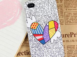 韩国lahoya卡通壳涂鸦iphone4 4S保护壳 苹果4代手机壳 可爱 壳子,手机壳,