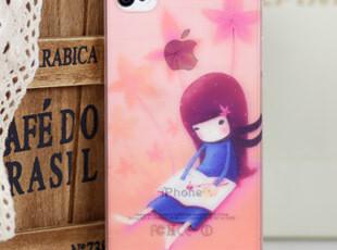 防滑波纹系列iphone 4 4S手机壳 夏日轻薄保护套卡通风景女孩外壳,手机壳,