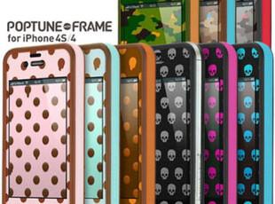 TUNEWEAR腾威尔波点骷髅iPhone4手机壳边框4S保护套贴膜套装TPU,手机壳,