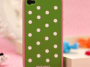 西瓜波点 iphone4手机壳 苹果4s手机壳 正品 iphone4s手机壳 硅胶,手机壳,