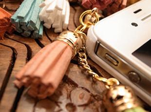 2012最新款流苏 金属塞 双吊坠 3.5mm 防尘塞/耳机孔塞/ 双流苏,手机壳,