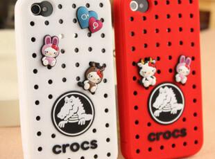 CRCOS卡骆驰 iphone 4外壳 保护套 洞洞鞋 可爱 硅胶套,手机壳,
