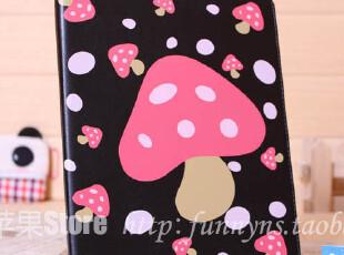 新款ipad2 ipad3蘑菇 保护套 可爱 卡通皮套 情侣 休眠保护套,手机壳,