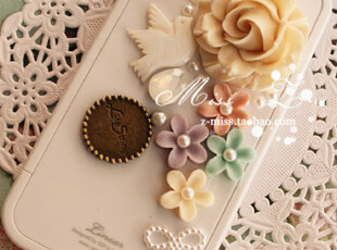 包邮 iphone4/4s 和平鸽珍珠蔷薇花 施华洛世奇雪蛋白 SGP 手机壳,手机壳,