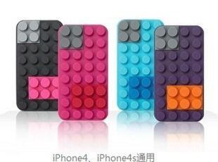 苹果iPhone4 4S 积木造型外壳硅胶套保护套手机套手机壳 周边配件,手机壳,