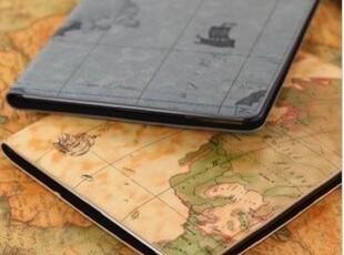 航海 苹果ipad2 ipad3 地图保护套 可爱皮套 配件 三档位带休眠,手机壳,