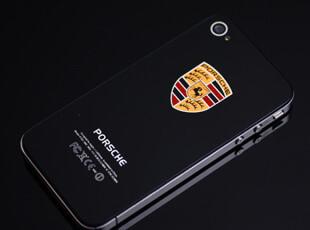 苹果iPhone 4/4S 钢化玻璃后盖 多款名车背壳 电池后盖 外壳配件,手机壳,