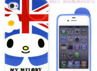My Melody立体iPhone4s手机壳 宜丽客米菲兔双肩贝壳马卡龙,手机壳,