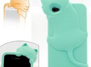 香港正品 kiki 趴趴猫 iphone4保护壳 苹果4硅胶手机壳 4s壳子,手机壳,