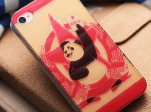 苹果iphone4手机壳iphone4S手机壳 熊猫 潮牌磨砂外壳 保护套,手机壳,