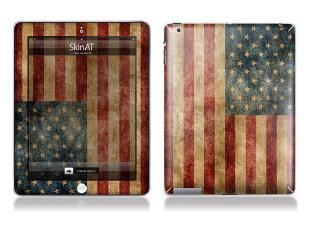 包邮 the new ipad2 ipad3 创意背贴膜 国旗系列 全身贴保护套装,手机壳,