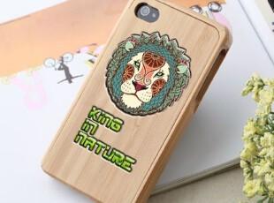 手机工坊 苹果iPhone4 4s手机壳 手机套 保护壳 壳 木雕森林之王,手机壳,