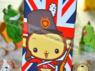 包邮!MomoMonkey iPhone 4 4S通用硅胶手机壳 英伦米字旗小猴,手机壳,