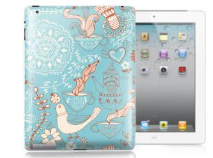 SkinAT 苹果iPad3个性贴纸 ipad2外壳贴膜 可爱小花布5款 SXYY,手机壳,
