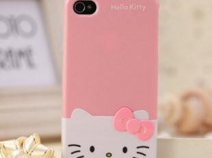 iphone4 hello kitty上下卡 KT蝴蝶结 iphone4s手机壳卡通情侣壳,手机壳,