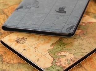 个性地图 苹果 the new ipad3 ipad2保护套 休眠超薄皮套外壳配件,手机壳,
