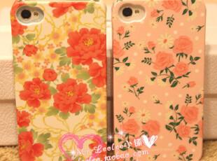 独家 iphone 4/4s 田园风 小清新 富贵牡丹 玫瑰 手机壳 保护壳,手机壳,