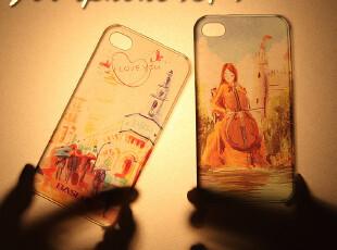 香港 倍思 苹果4手机壳 iphone4s/4 保护壳 罗曼壳 可爱超薄 配件,手机壳,