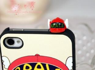 iphone4防尘塞 苹果4 Q版阿拉蕾 防尘塞套装 iphone4s防尘塞 配饰,手机壳,