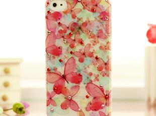 韩版 苹果 iphone 4 4s 手机壳 蝶恋花 保护套 水钻 外壳 壳子,手机壳,