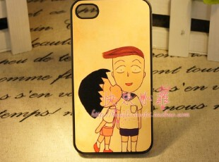 iphone4 4s 小丸子的爱 可爱纯真 温馨 手机壳 保护壳 小清新,手机壳,