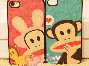 pau*frank 大嘴*猴 卡通 iphone4 4s 通用 情侣手机壳 外壳,手机壳,
