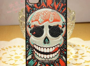 iphone4 4s 手机壳 保护壳 个性潮牌 炫彩 死神骷髅 手感贴皮,手机壳,