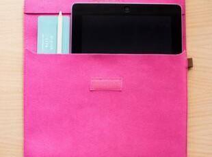 彩色皮革系列包袋-ipad包玫红,手机壳,