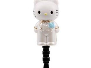 最新 Hello Kitty 圣洁的婚礼 3.5mm耳机孔 防尘塞《41-1860,手机壳,