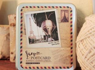 韩国Indigo第二代铁盒装宝丽莱明信片|lomo卡片--巴黎 0.24,拍立得,