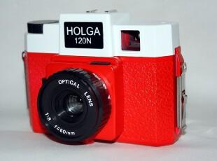 LOMO相机 Holga120N 120n红白 HOLGA N 外接闪灯,拍立得,