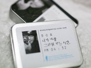 特价。日韩国文具 唯美 半岛铁盒lomo【40张卡片】想念你的时间,拍立得,