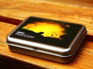 韩国进口铁盒 LOMO铁皮收纳盒 含卡片明信片 铁皮盒零钱盒摩天轮,拍立得,