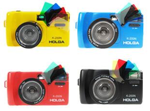 LOMO相机正品 Holga 135 K200N 含彩闪和鱼眼 入门最佳 4色入,拍立得,