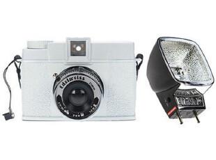Lomo摄影黛安娜+雪绒花版相机包瓦特/ Lomo摄影闪光(黑色),拍立得,